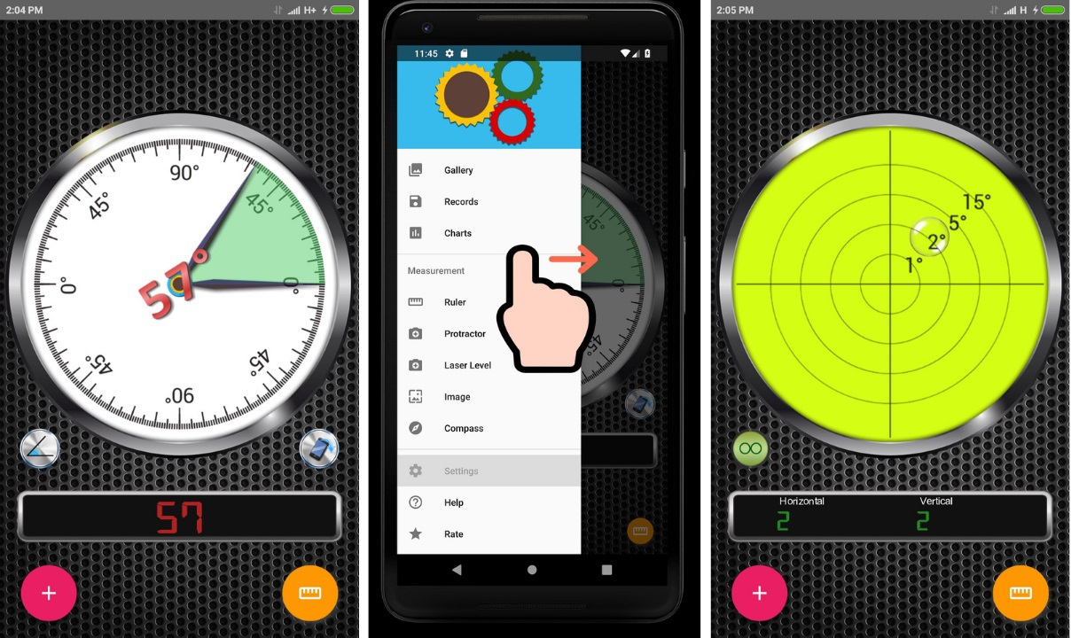 measuring apps for android