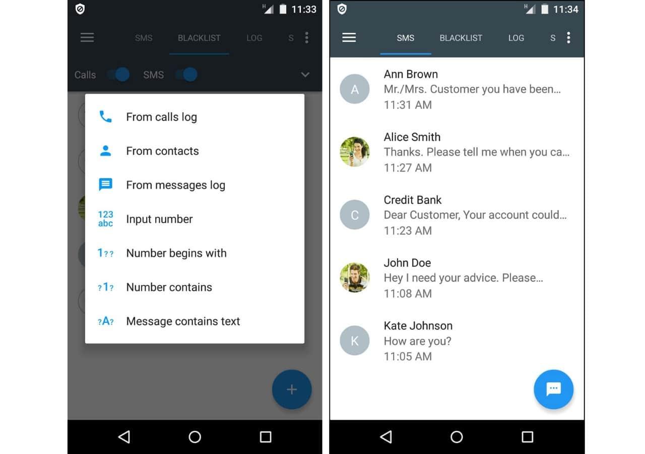 text message blocker app