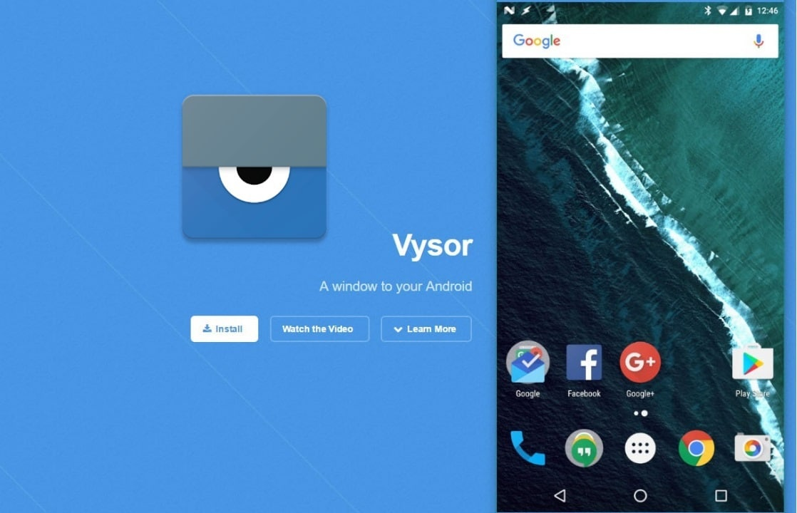 control android phone from chrome, vysor