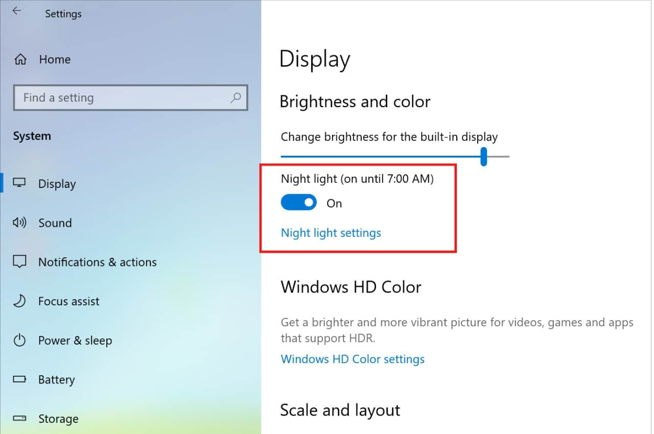 free blue light filter for pc windows 10