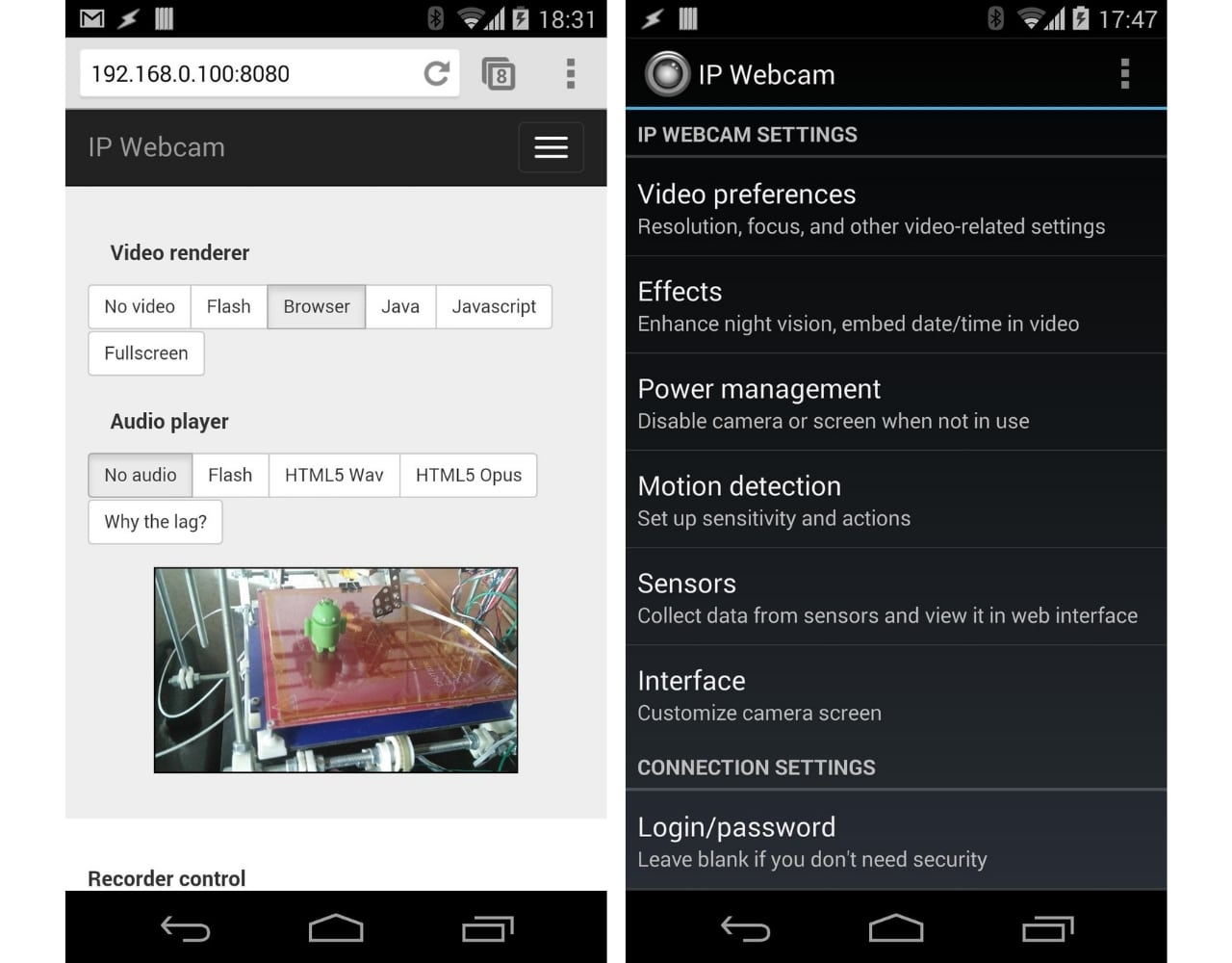 wifi camera app for android