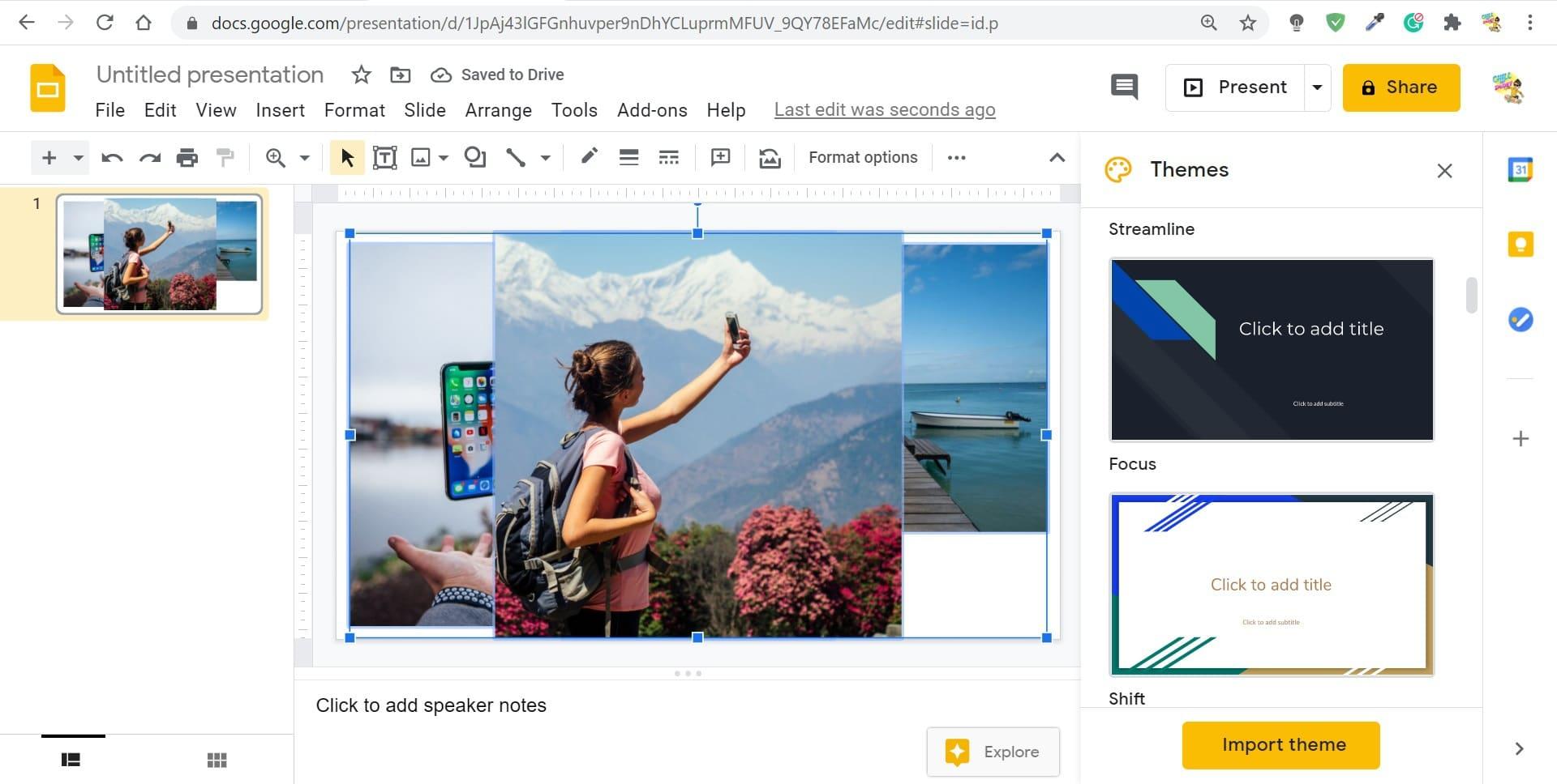 google slides collage