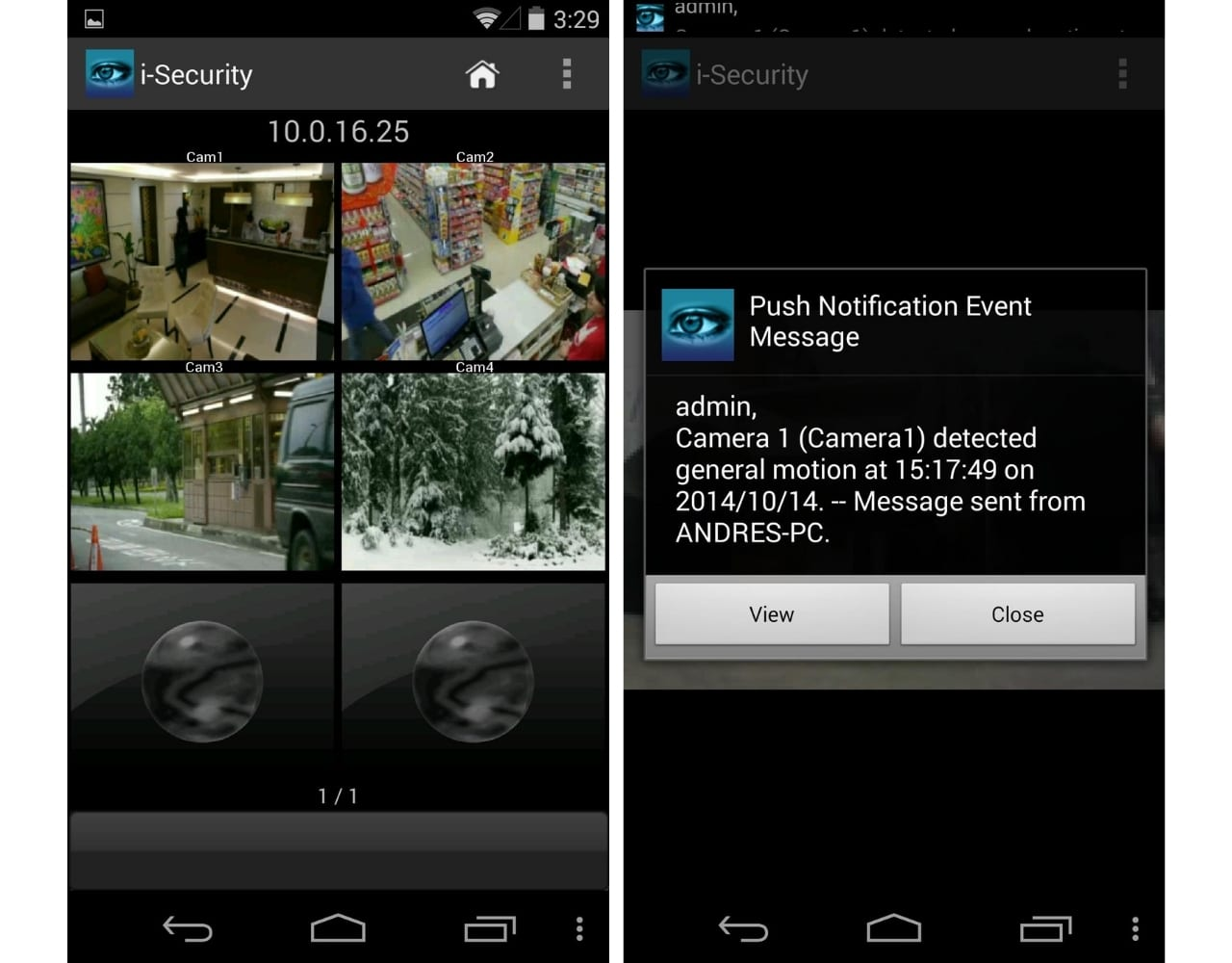 security camera app for android