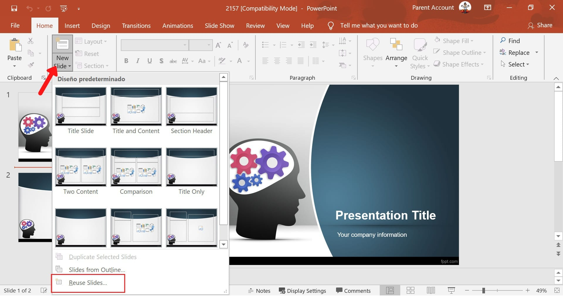 combine powerpoint slides from different files