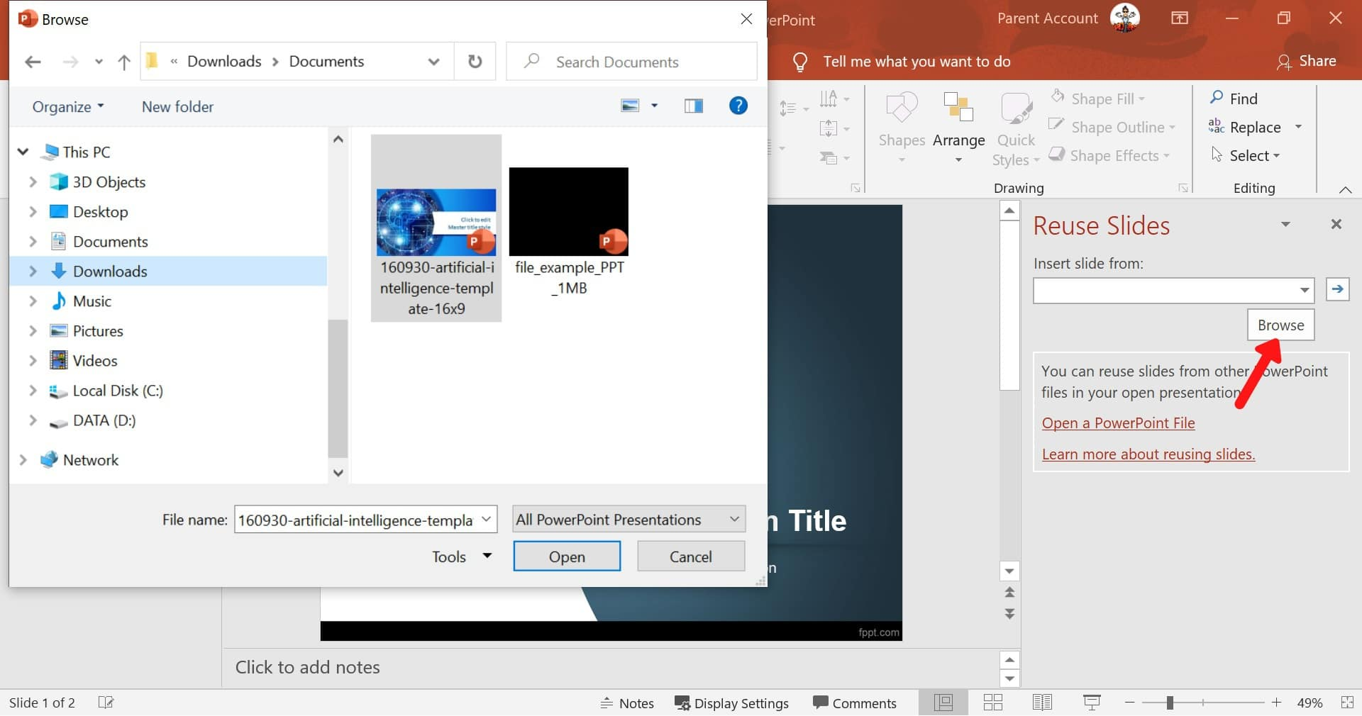 merge two presentations powerpoint