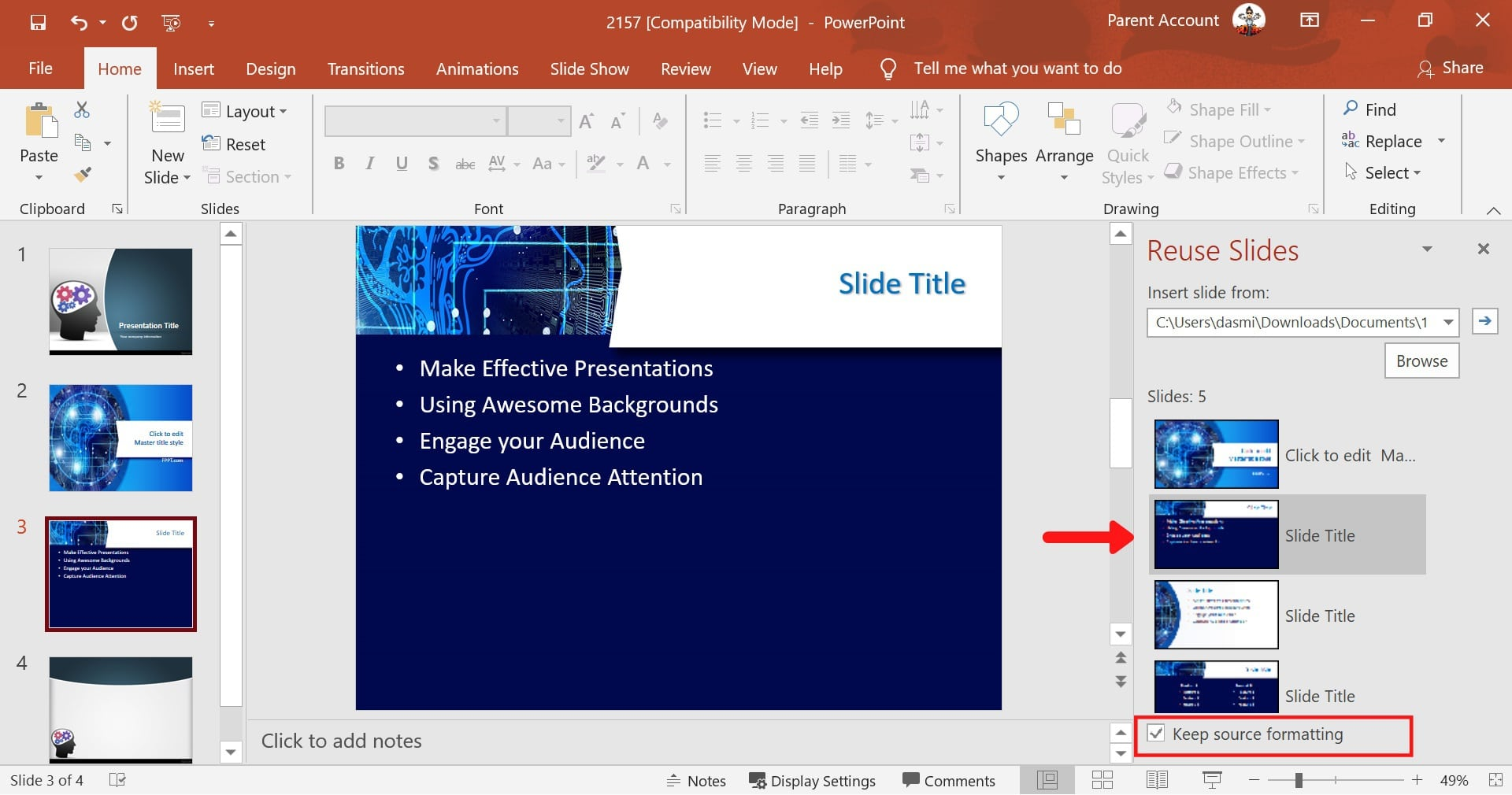 combining multiple powerpoint presentations into one