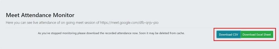download attendance report