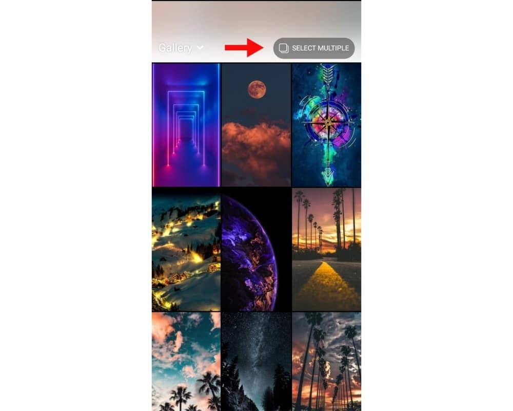 add multiple photos to one instagram story android