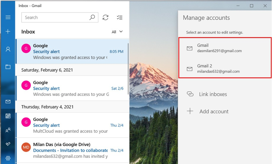 multiple gmail accounts one inbox
