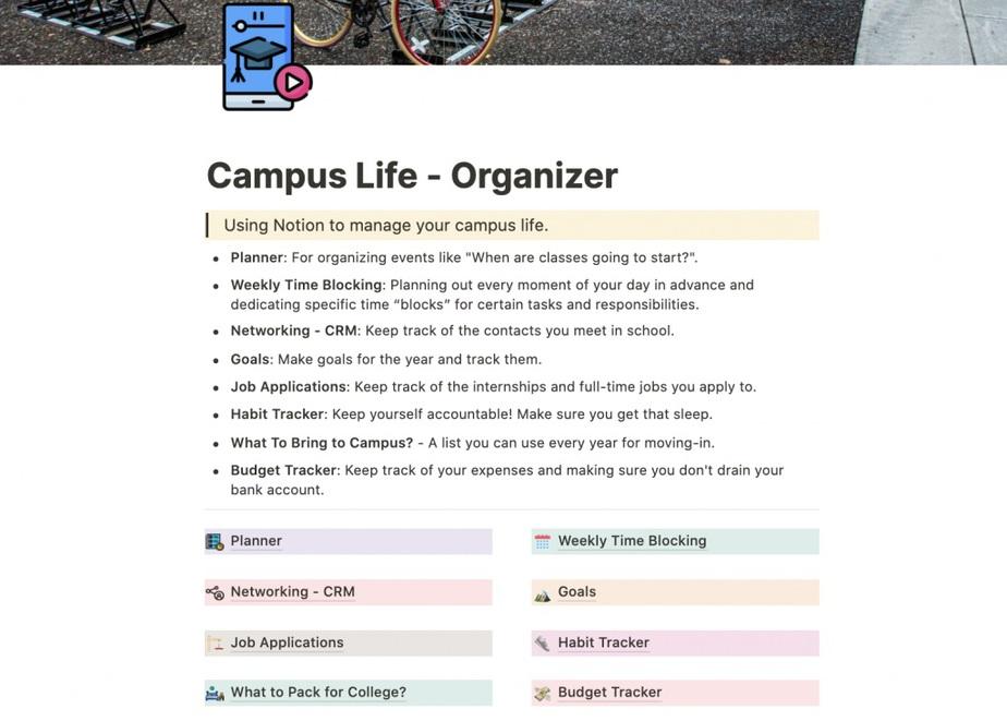 Campus Life Organizer