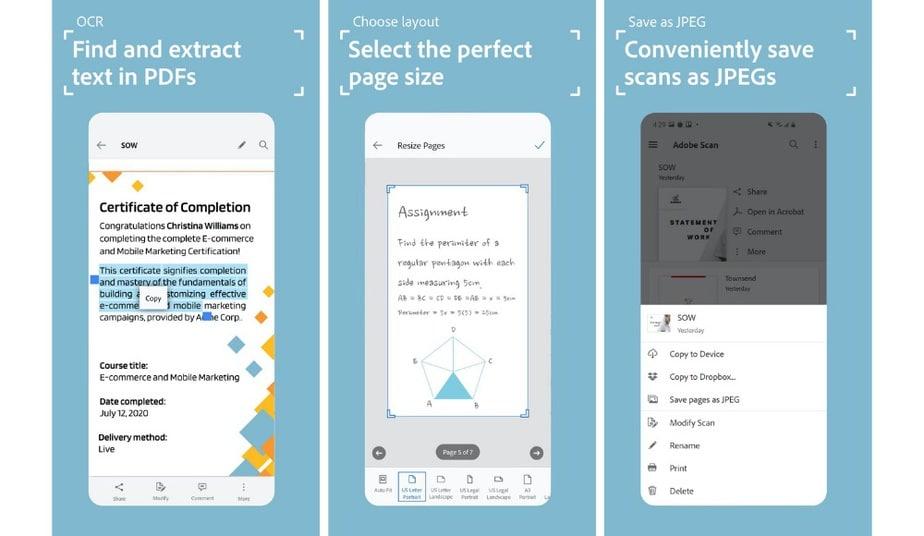Adobe Scan - alternative indian app for camscanner