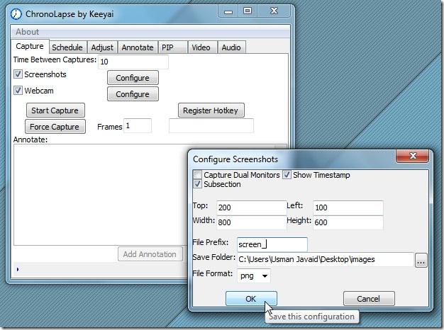 webcam timelapse software