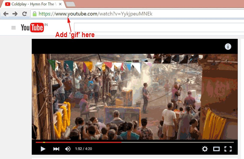 create gif from youtube