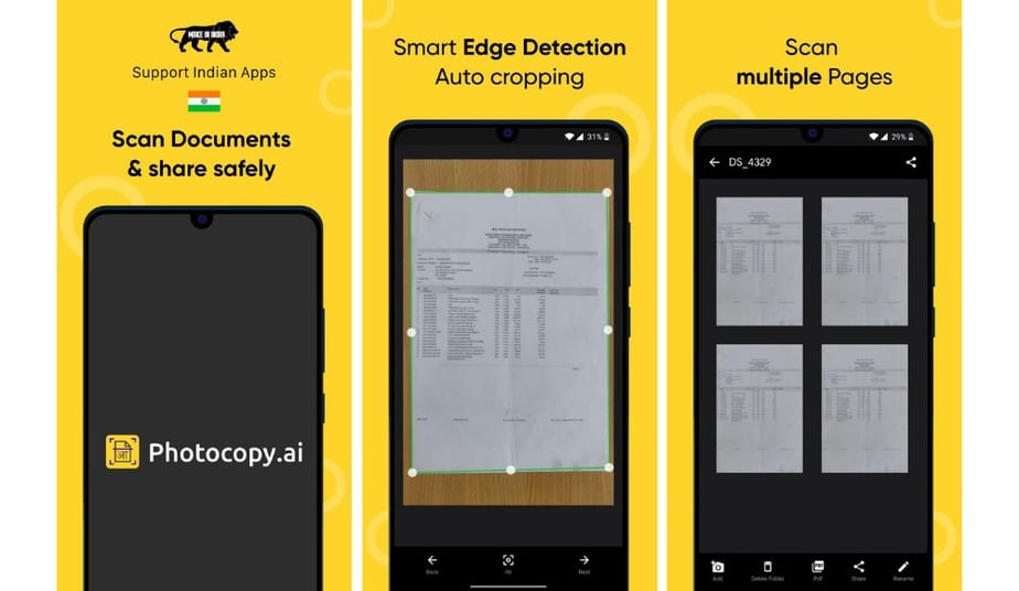 Photocopy, indian scanner app free