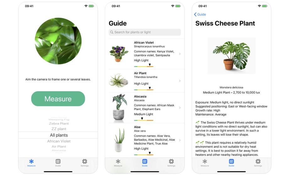 use light meter app for plants