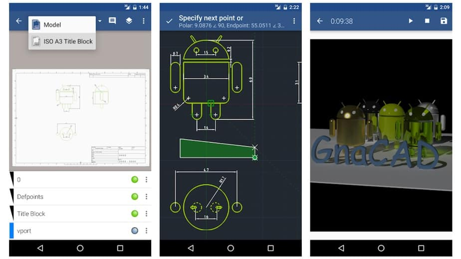 free cad drawing app for android