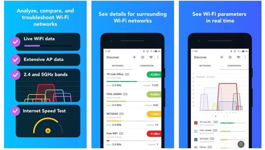 WiFi analyzer app for Android
