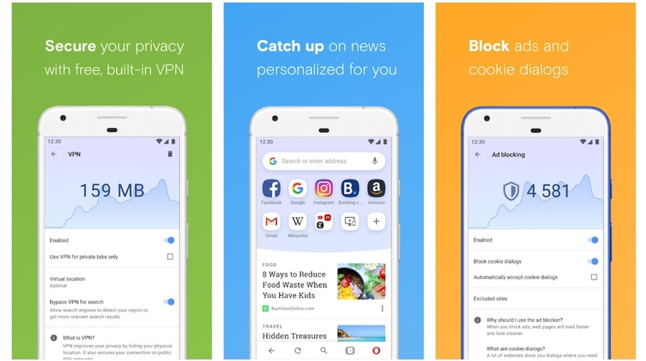 Browser with built-in free VPN android