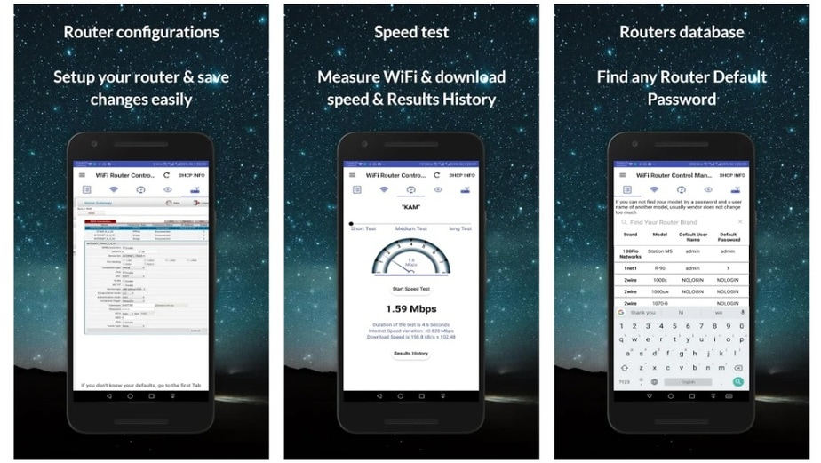 wifi router app for android