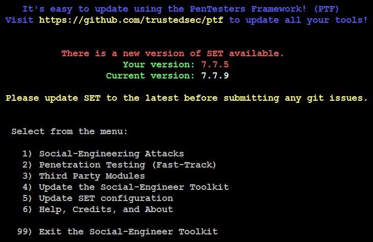 Social-Engineer Toolkit
