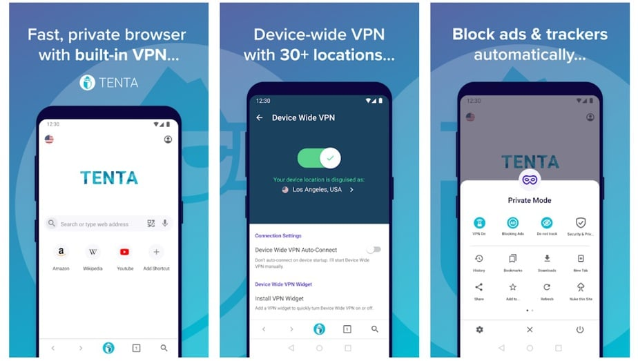 private browser with vpn for android