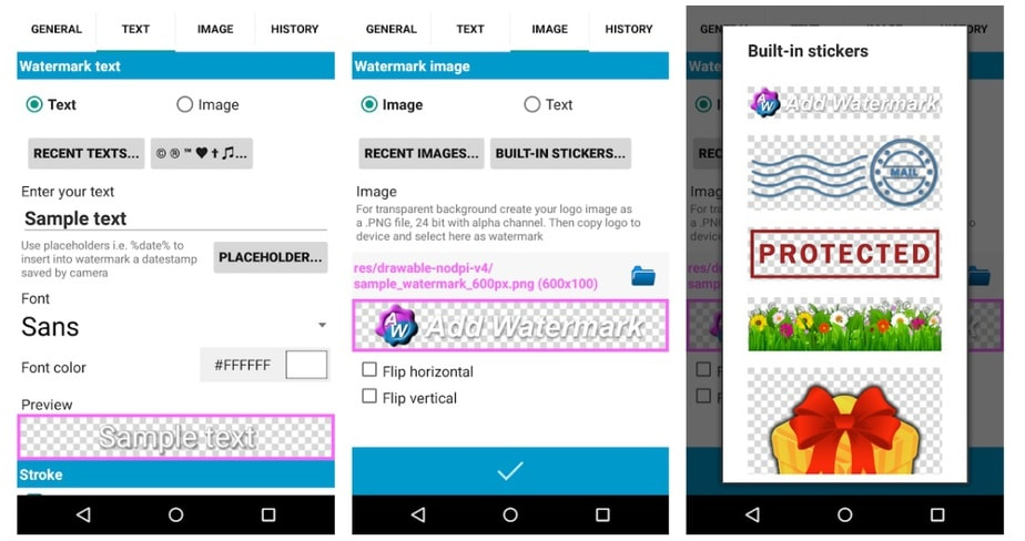 free watermark app for android
