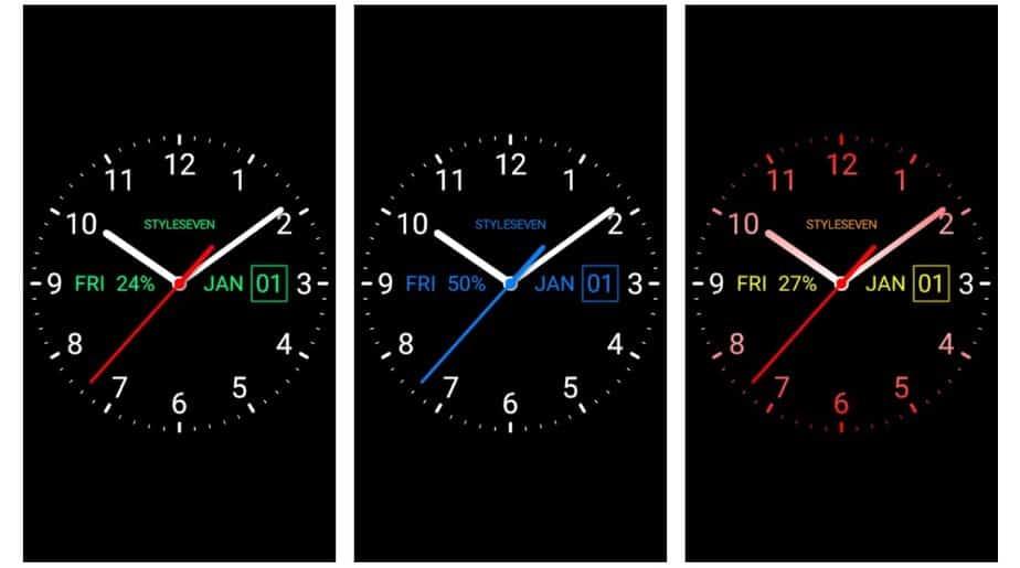 analog clock widget
