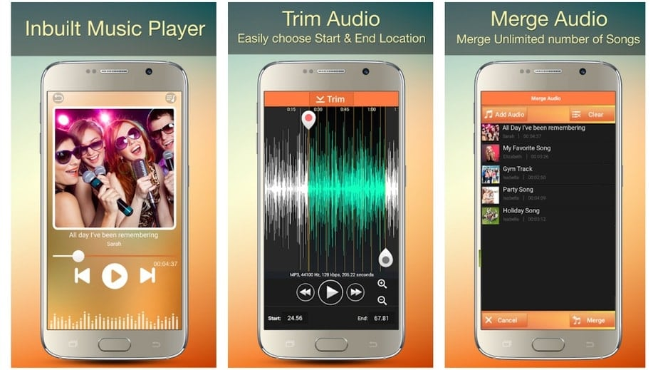 audio cutter and joiner app, mp3 cutter ringtone app