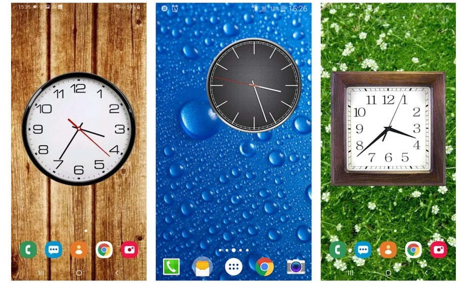 analog clock widget for android