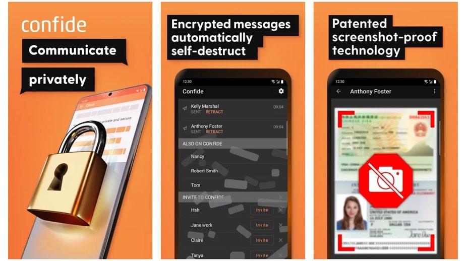 self destructing message app