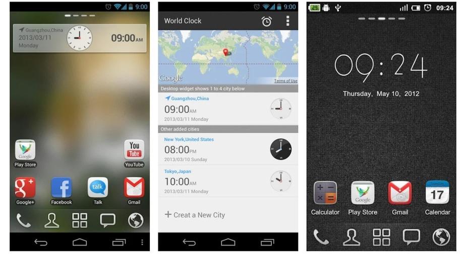 android analog clock widget