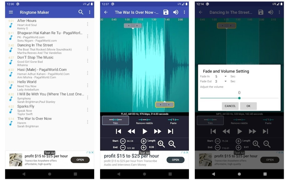 mp3 cutter for android, mp3 cutter ringtone app