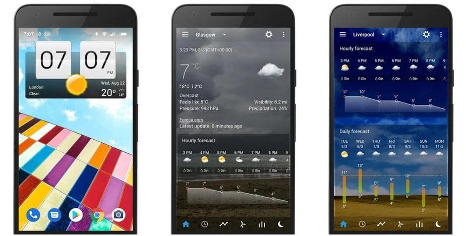 android clock widget