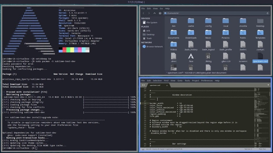 tiling window manager linux