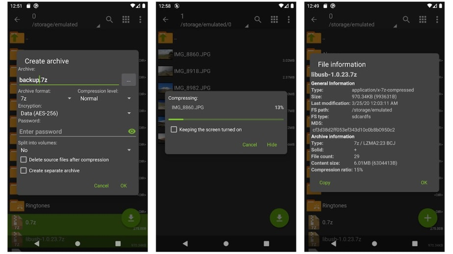 zarchiver file extract android