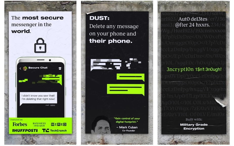app that erases text messages after read