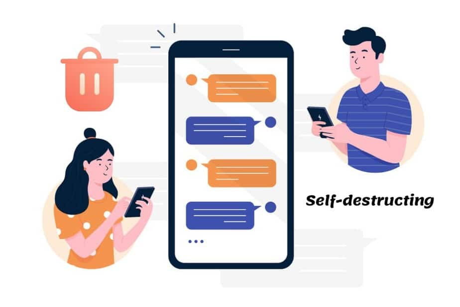 Self Destructing Messaging Apps for Android