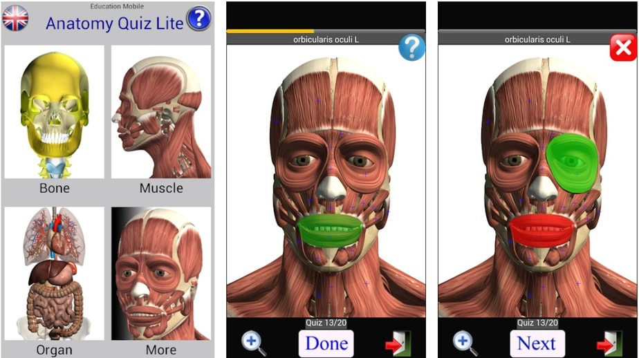 human anatomy app, anatomy quiz app