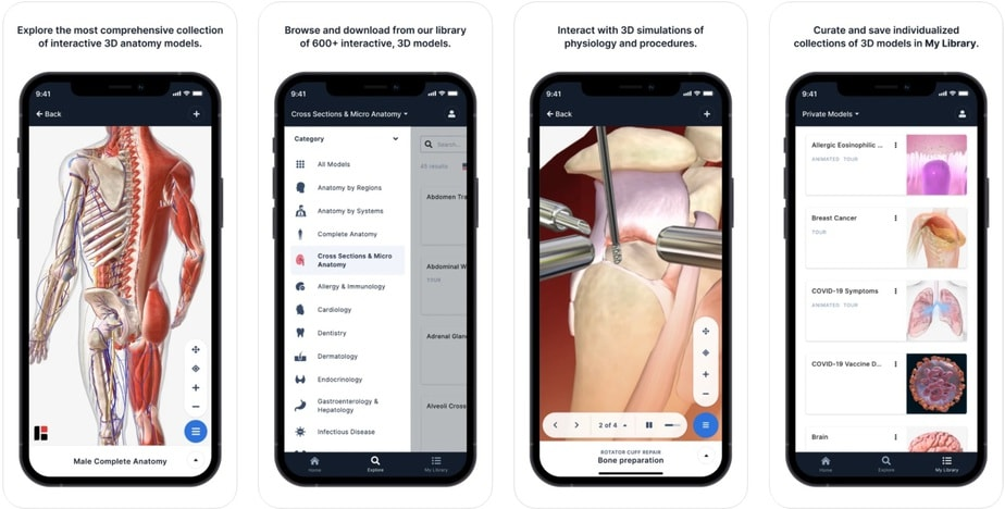 anatomy app for medical students, anatomy and physiology app