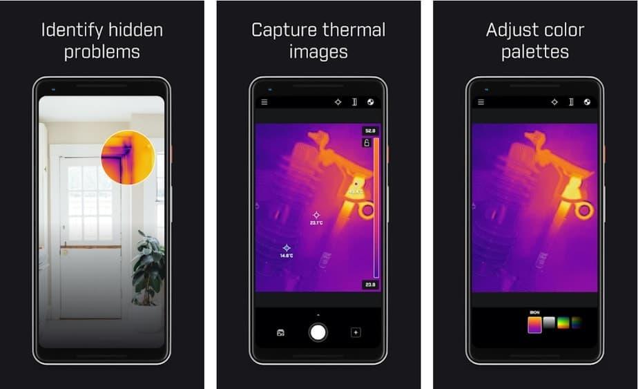 thermal imaging app, heat sensing app