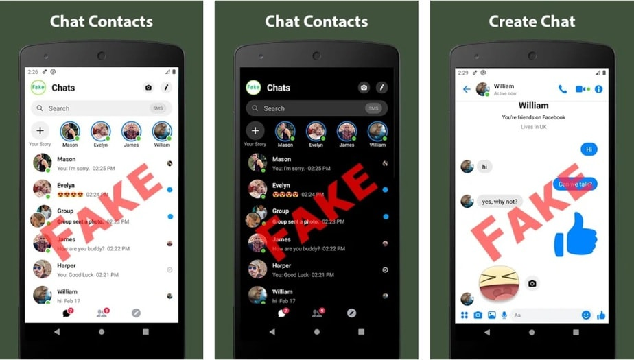 fake message app Android