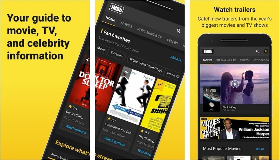 Movie review app for Android, movie rating app