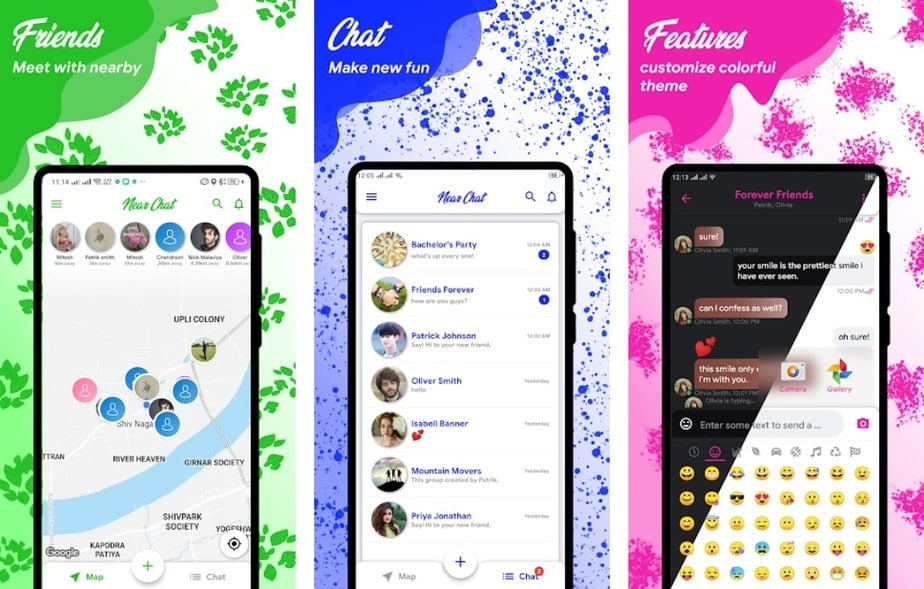 chat near by, nearby chat app android