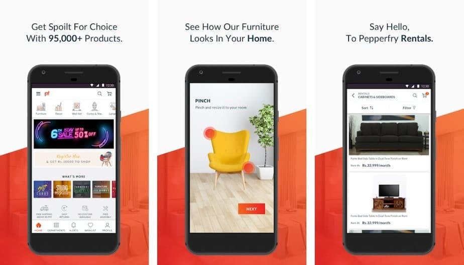 online shopping app for furniture, furniture app