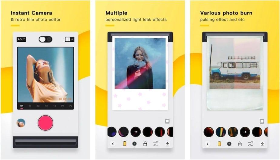 polaroid effect app, Polaroid editing app