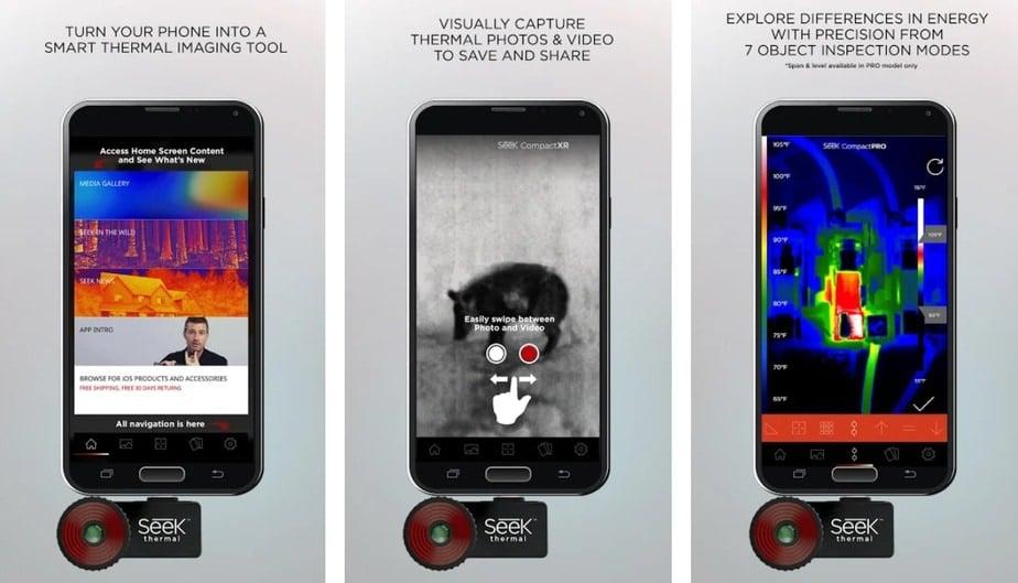 real thermal camera app, infrared camera app