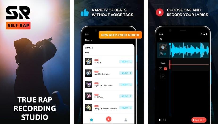 rap making app, rap studio app