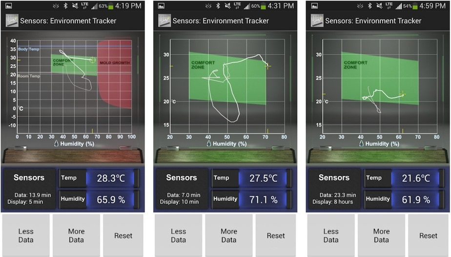 room temperature app for android