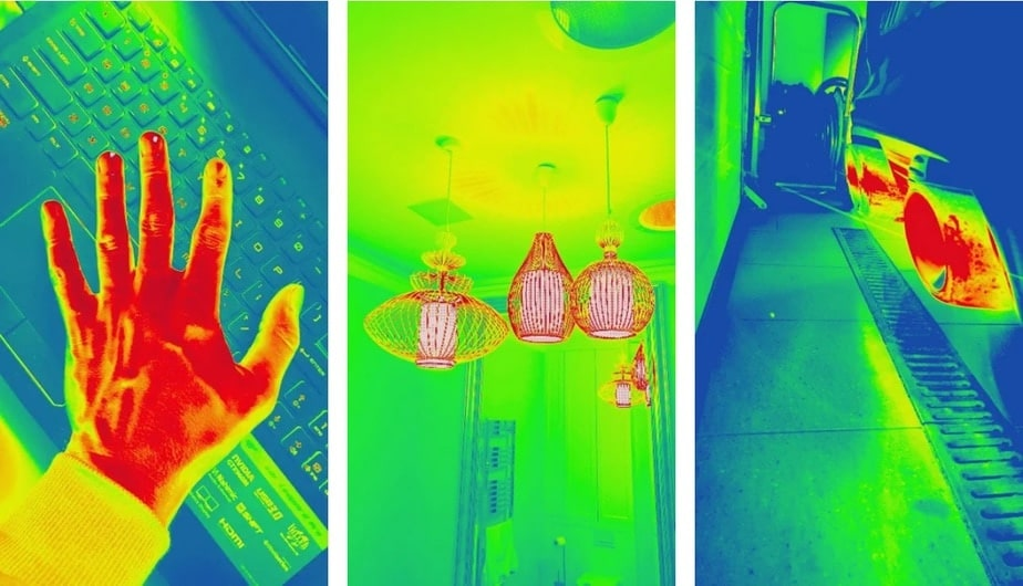thermal filter app, thermal image app