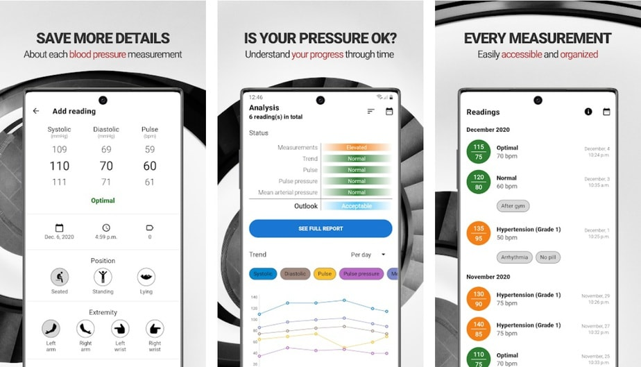 blood pressure monitoring app android